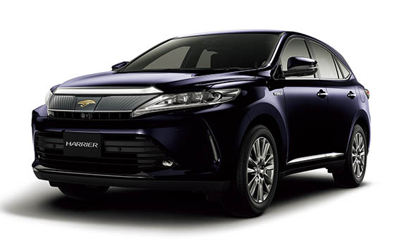 Toyota Harrier Hybrid HYBRID PROGRESS METAL AND LEATHER PACKAGE STYLE BLUEISH 4WD CVT 2.5 (2018)