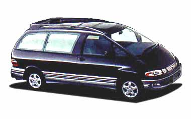 Toyota Estima Emina G MIDDLE ROOF AT 2.2 D 7PASS (1998)