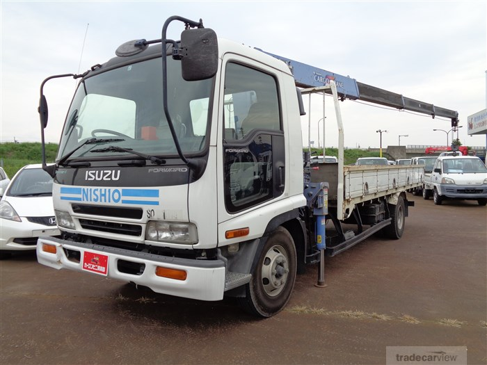 2004 Isuzu FORWARD FRR35K3S HIRA☆4 STAGE CRANE☆3 TON☆LONG BODY☆BED☆ENGINE 6HL1