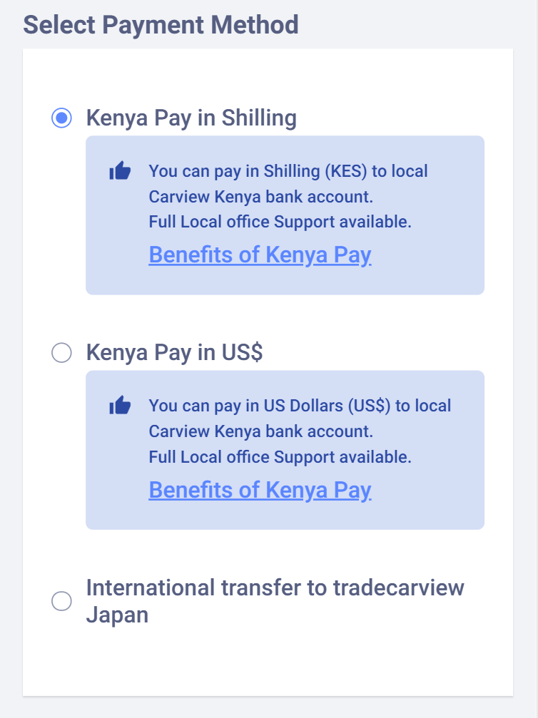 "Kenya Pay ""BEST OPTION!"" and Zambia Pay ""Recommended""."