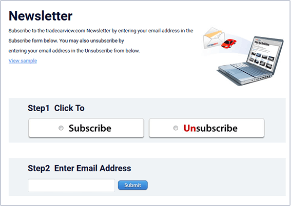 newsletter setting page